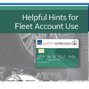Helpful Hints for Fleet Account Use Cover