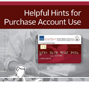 Helpful Hints for Purchase Account Use Cover