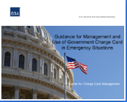 Title slide for emergency Guidance for Management and Use of Government Charge Card in Emergency Situations