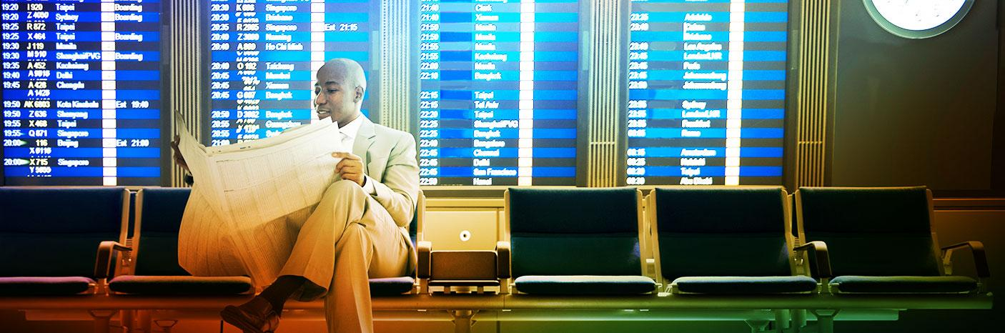 Man in Airport